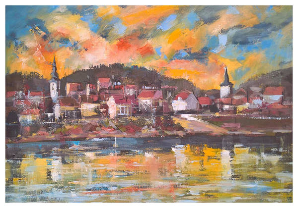 Painting - Danube City View by Lorand Sipos