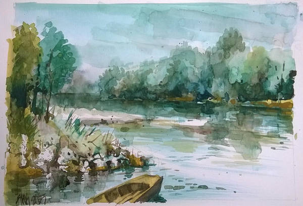 Painting - Danube Landscape by Lorand Sipos