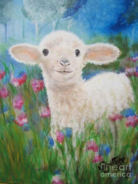 Painting - Flying Lamb Productions     Daphne Star In The Tall Grass by Sigrid Tune