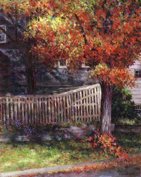 Painting - Dappled Fence by Susan Savad