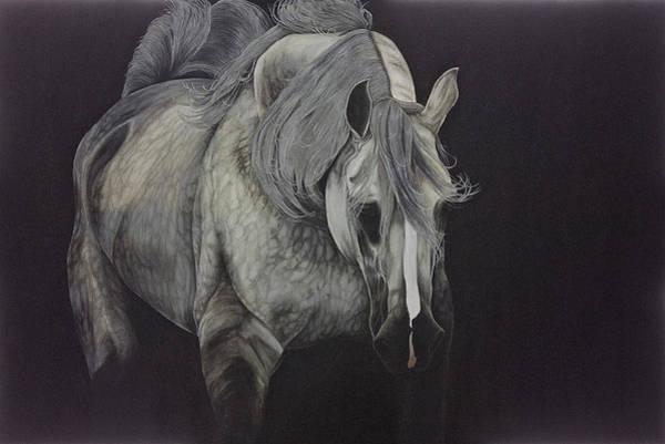 Horsemanship Painting - Dappled Gray Dreams by Joy Walsh