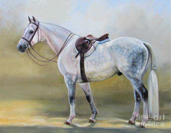 Devon Painting - Dappled Hunter by Janet  Crawford