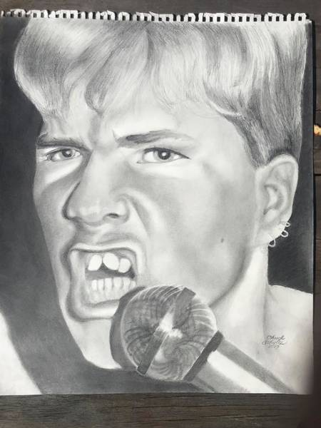 Wall Art - Drawing - Darby Crash Of The Germs by Chuck Schultz