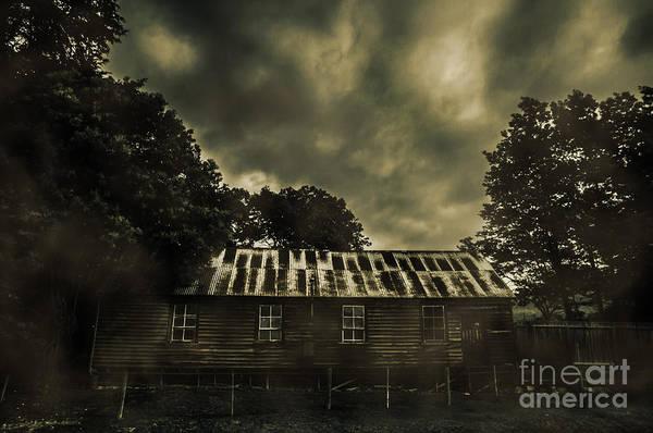 Condemned Wall Art - Photograph - Dark Abandoned Barn by Jorgo Photography - Wall Art Gallery