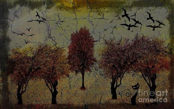 Digital Art - Dark Autumn Night by Swedish Attitude Design