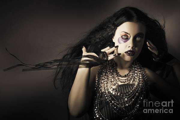 Photograph - Dark Beauty Woman. Rich Jewellery And Black Nails by Jorgo Photography - Wall Art Gallery