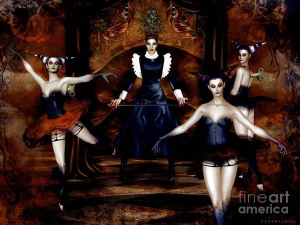 Wall Art - Digital Art - Dark Cabaret by Shanina Conway