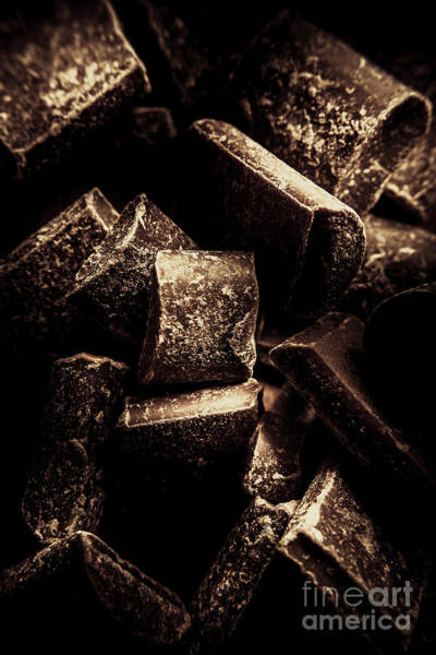 Wall Art - Photograph - Dark Chocolate Confectionary Macro by Jorgo Photography - Wall Art Gallery