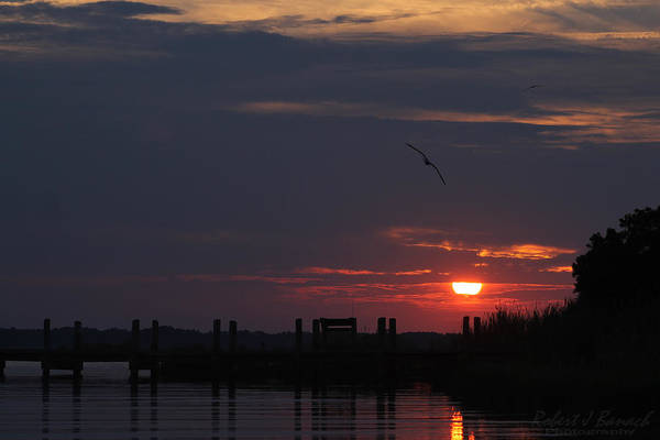 Photograph - Dark Clouds At Sunset by Robert Banach