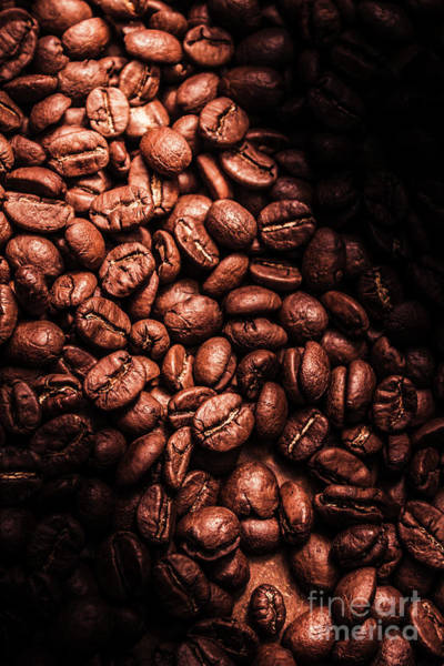 Photograph - Dark Coffee Beans Background by Jorgo Photography - Wall Art Gallery