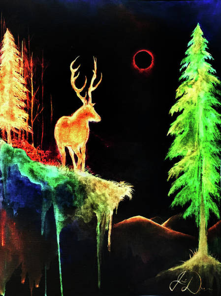 Blacklight Painting - Dark Colors Of Nature by Jessica Deveau