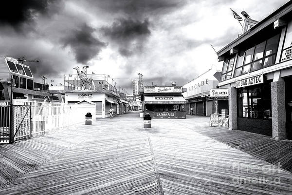 Photograph - Dark Day At Seaside Heights 2007 by John Rizzuto