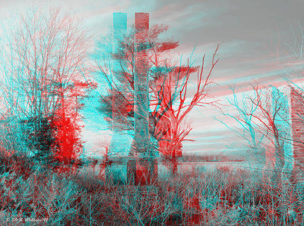 Anaglyph Photograph - Dark Days - Use Red-cyan 3d Glasses by Brian Wallace