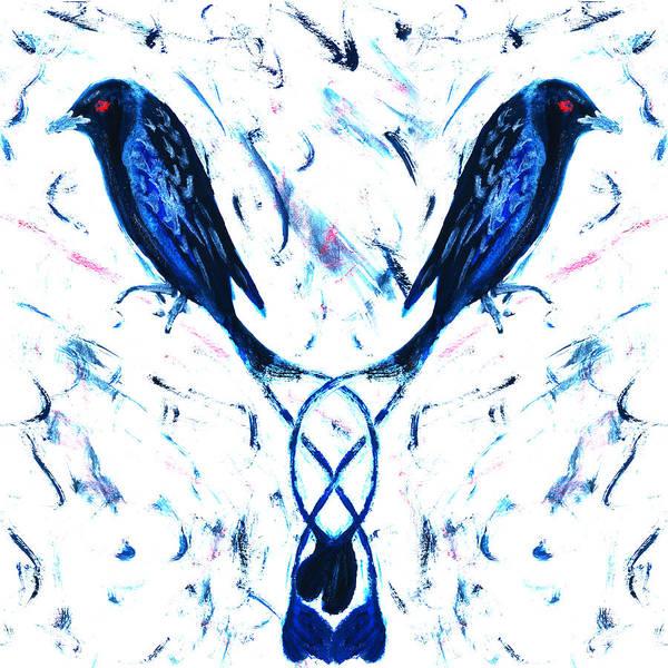 Dark Drongos Art Print