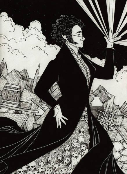 Miserable Drawing - Dark by Ellie Valsin