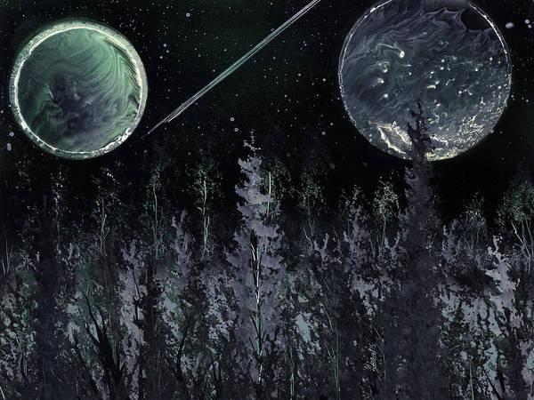 Painting - Dark Evergreen Horizon by Jason Girard