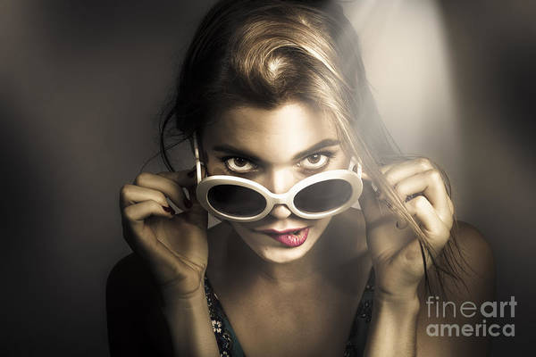 Photograph - Dark Fashion Pinup Model by Jorgo Photography - Wall Art Gallery