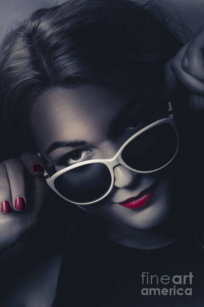 Nails Photograph - Dark Fashion Portrait. Female Model In Sunglasses by Jorgo Photography - Wall Art Gallery