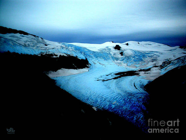 Photograph - Dark Glacier by Beauty For God
