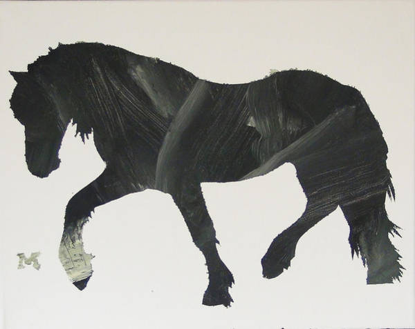Painting - Dark Horse Coming by Candace Shrope