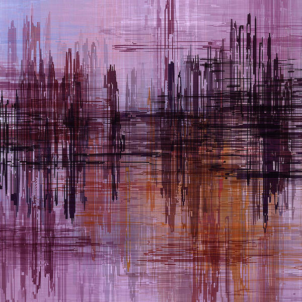 Painting - Dark Lines Abstract And Minimalist Painting by Inspirowl Design