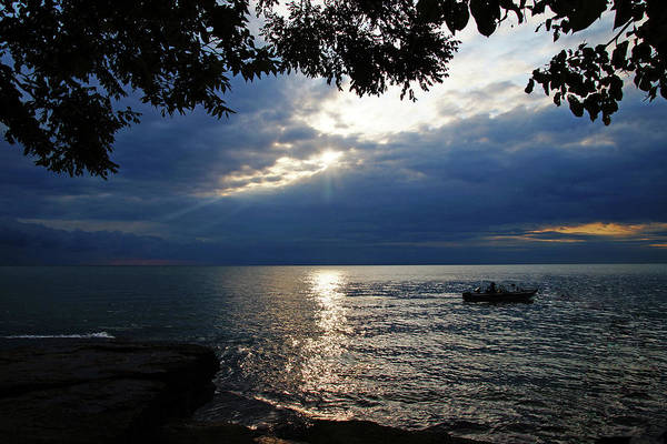 Photograph - Dark Morning Skies On Lake Erie by Mike Murdock