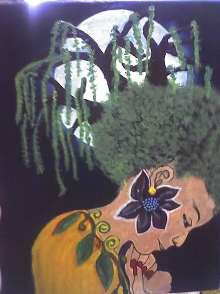 Acrilic Painting - Dark Night by Dorine Coello