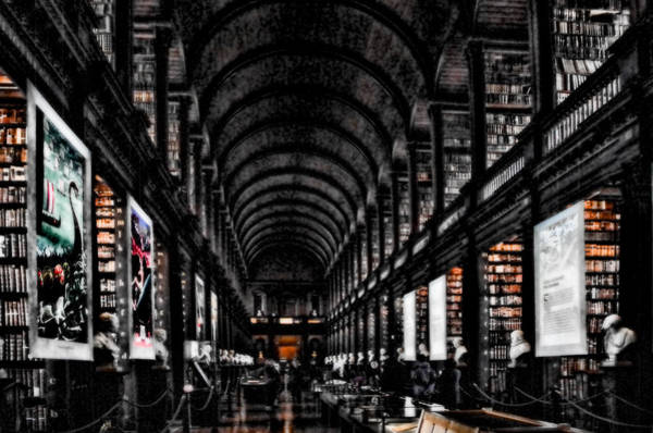 Photograph - Dark Night Library by Sharon Popek