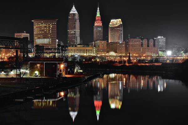 Wall Art - Photograph - Dark Night On The Cuyahoga by Frozen in Time Fine Art Photography