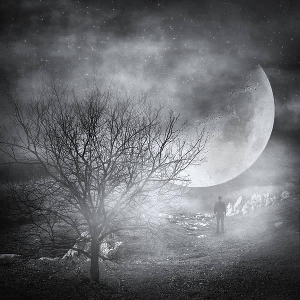 Surrealistic Photograph - Dark Night Sky Paradox by Zapista Zapista