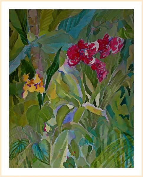 Wall Art - Painting - Dark Orchids by Mindy Newman