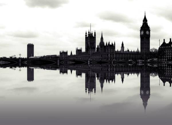 Houses Of Parliament Photograph - Dark Reflections by Sharon Lisa Clarke