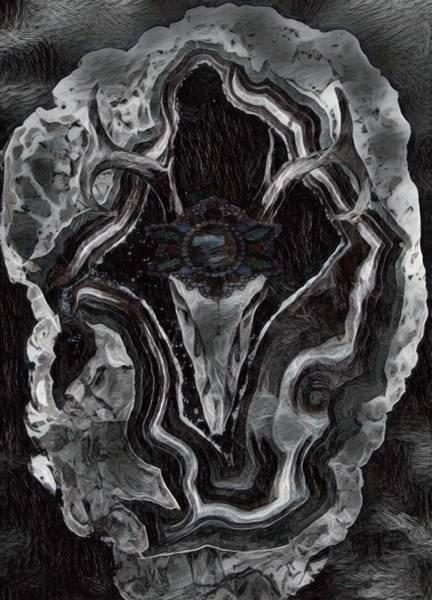 Deer Skull Digital Art - Dark Refuge by Lara Net