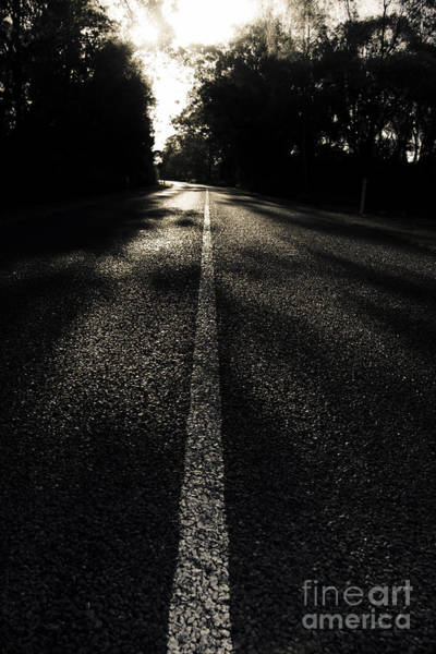 Thoroughfare Photograph - Dark Road Of Shadows by Jorgo Photography - Wall Art Gallery