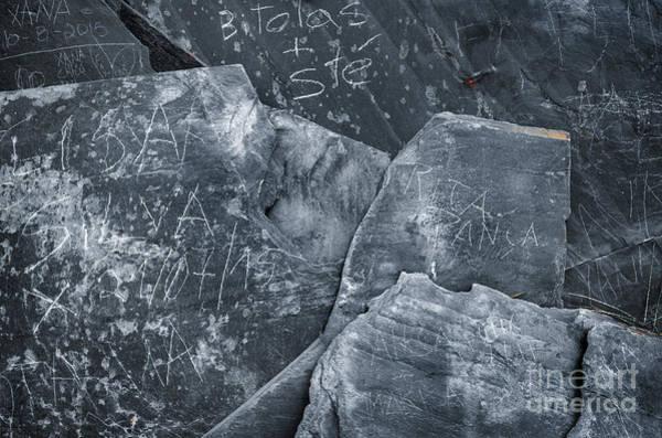 Wall Art - Photograph - Dark Schist Blades by Carlos Caetano