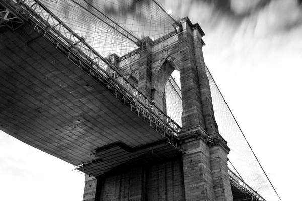 Suspension Bridge Photograph - Dark Side Calling by Az Jackson