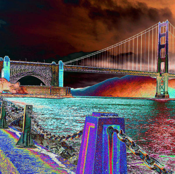 Dark Sky At The Golden Gate Art Print