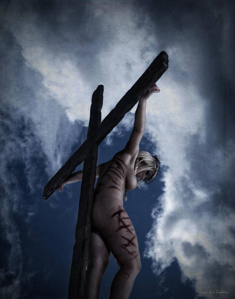 Wall Art - Photograph - Dark Sky Crucifix by Ramon Martinez