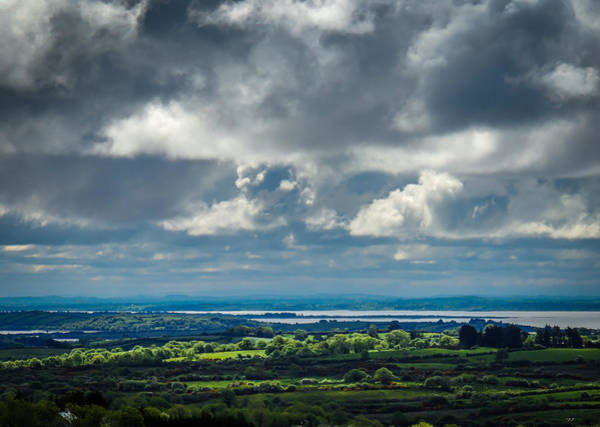 Photograph - Dark Sky Over County Clare's Shannon River Valley by James Truett
