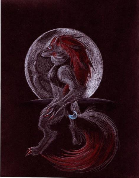Pokemon Drawing - Dark Wolf by Chris Meyers