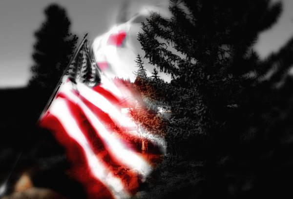 Flying The Flag Wall Art - Digital Art - Darkness Falling On Freedom by Donna Blackhall