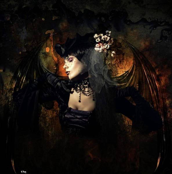 Impression Mixed Media - Darkness Shrouds Her Stalking Form by G Berry