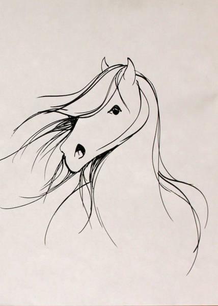 Warmbloods Drawing - Darling by Jennifer Fosgate