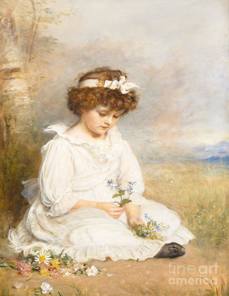 Cotton Painting - Darling by Sir John Everett Millais
