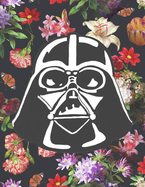 Hero Wall Art - Photograph - Darth Floral by Canvas Cultures