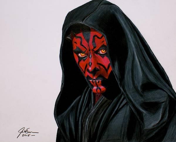 Star Wars Wall Art - Drawing - Darth Maul by Jason Swanson