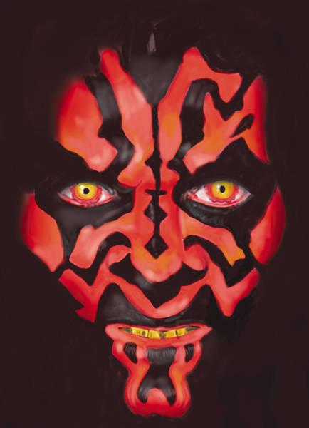 Star Wars Movie Painting - Darth Maul by Mark Jennings