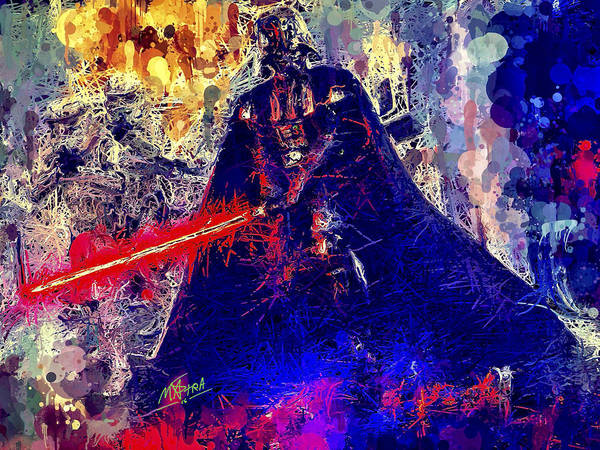 Mixed Media - Darth Vader by Al Matra