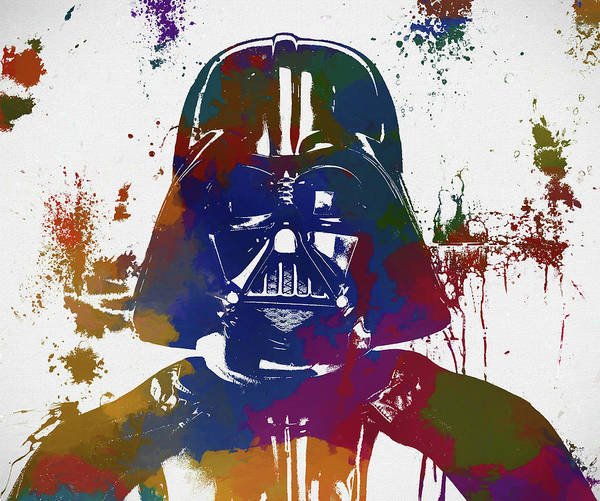 Wall Art - Painting - Darth Vader Paint Splatter by Dan Sproul