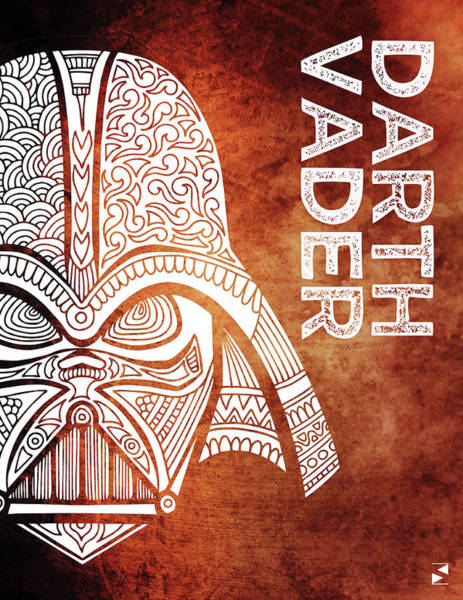 Darth Vader Mixed Media - Darth Vader - Star Wars Art - Brown And White by Studio Grafiikka